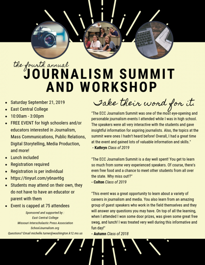 Journalism Summit and Workshop runs next month