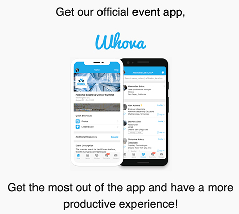 J-Day App: Download Whova to view schedules and more